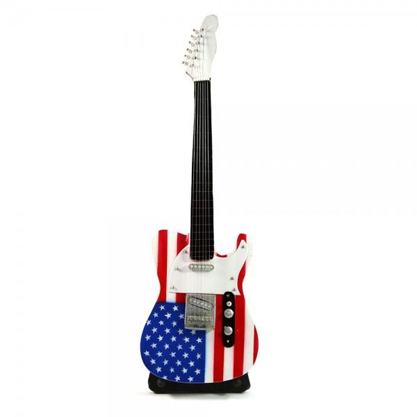 Amerikan Bayrağı Gitar Figür