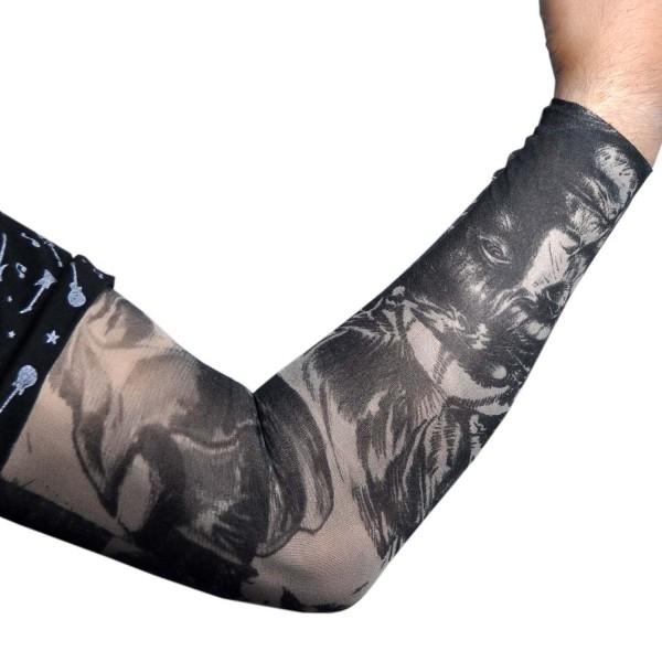 kara kalem çizim giyilebilir dövme D61