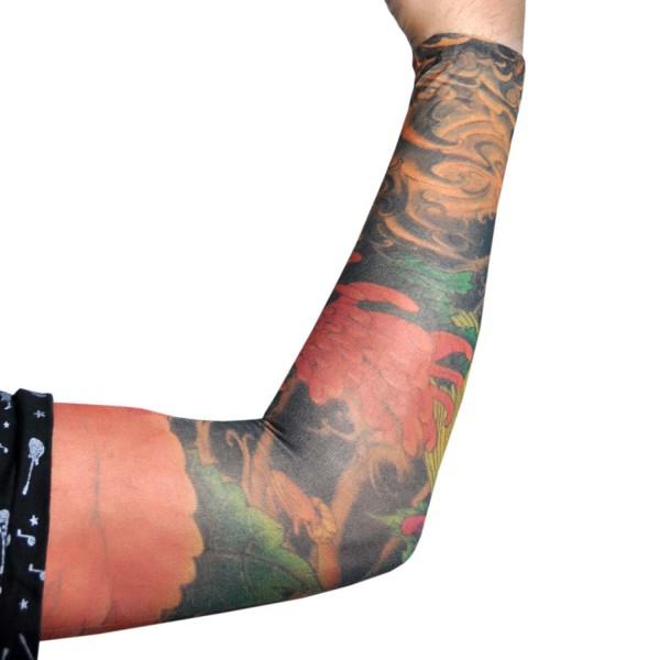 turuncu çiçekli giyilebilir dövme D67