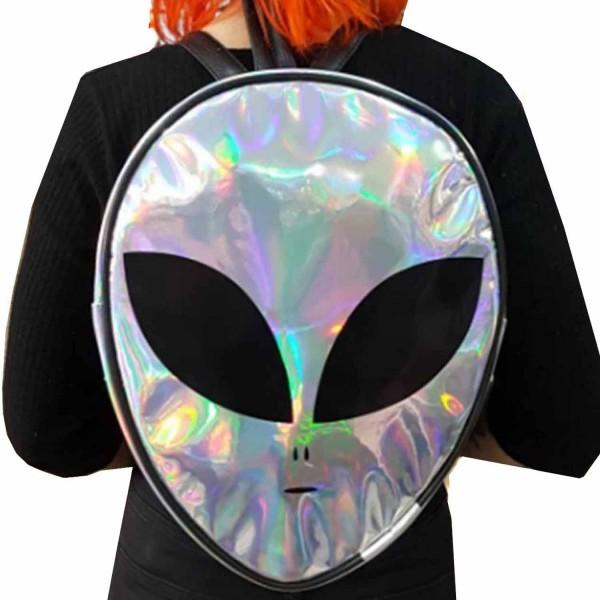 Alien Hologram Yüzey Sırt Çantası