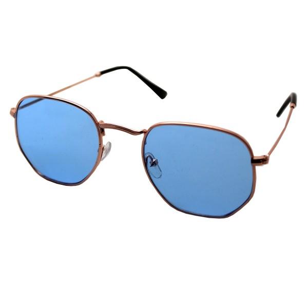 Altıgen Su Mavisi Gold Gözlük