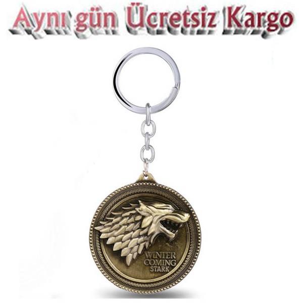 gameG of thrones stark Winter is Coming bronz anahtarlık