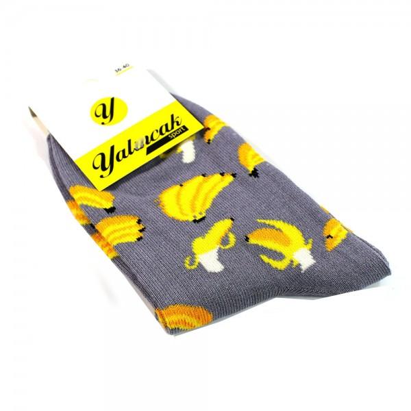 Muz Desenli Çorap